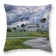 Mansion At Tuckahoe In Jensen Beach Florida Throw Pillow