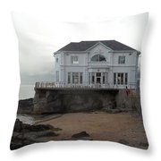 Mansion By The Sea Throw Pillow