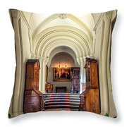 Mansion Hallway IIi Throw Pillow by Adrian Evans