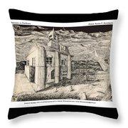 Mansion In Darkness Throw Pillow