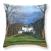 Mansion In The Woods Throw Pillow