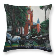 Mansion On Forsythe Savannah Georgia Throw Pillow