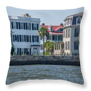 Mansions By The Water Throw Pillow