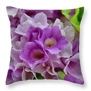 Mansoa Alliacea Throw Pillow