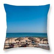 Manta Rota Beach Throw Pillow