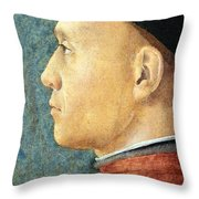Mantegna's Portrait Of A Man Throw Pillow