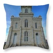 Manti Temple East Side Throw Pillow