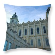 Manti Temple North Throw Pillow