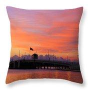 Mantoloking Bridge At Dawn Throw Pillow