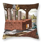 Manufacture Of Arsenic, 1704 Throw Pillow