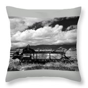 Manure Spreader 1 Bw Throw Pillow