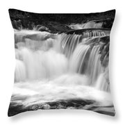 Many Falls - Bw Throw Pillow