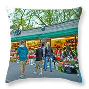 Many Flower Shops In Tallinn-estonia Throw Pillow