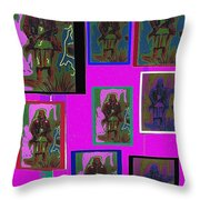 Many Geronimos Collage 1887-2012 Throw Pillow