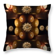 Many Lit Candles Throw Pillow