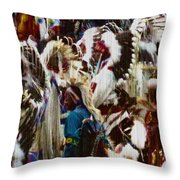 Many Nations Throw Pillow