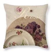 Many Rose Designs Still Life  Throw Pillow