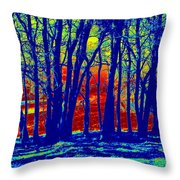 Many Trees II Throw Pillow