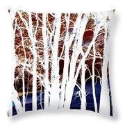 Many Trees Throw Pillow