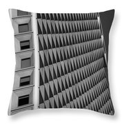 Many Windows In Black And White Throw Pillow