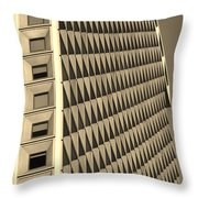 Many Windows In Sepia Throw Pillow