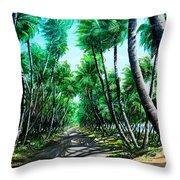 Manzanilla Coconut Estate Throw Pillow