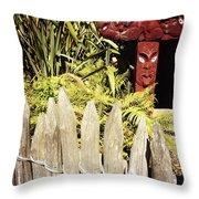 Maori Carving Throw Pillow