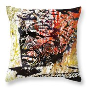 Maori Warrior 1 Throw Pillow