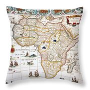 Map Of Africa, 1630 Throw Pillow
