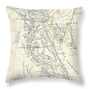 Map Of Ancient Egypt Throw Pillow