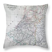 Map Of Belgium And Holland Or The Netherlands Throw Pillow