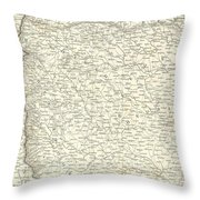 Map Of Bombay Presidency And Goa Throw Pillow
