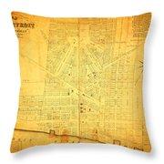 Map Of Detroit Michigan C 1835 Throw Pillow