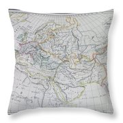 Map Of Europe In The Middle Ages Throw Pillow