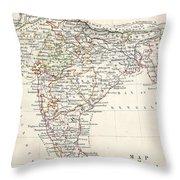Map Of India Throw Pillow
