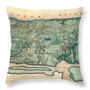 Map Of Manhattan Throw Pillow