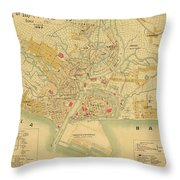 Map Of Manila 1899 Throw Pillow
