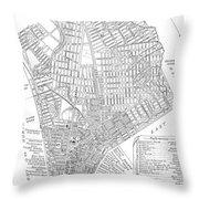 Map Of New York City, 1803 Throw Pillow