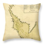 Map Of Philadelphia And The Delaware River 1780s Throw Pillow