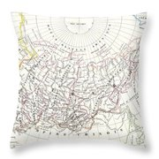 Map Of Russia In Asia And Siberia Throw Pillow