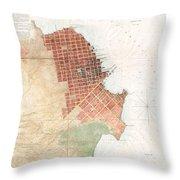 Map Of San Francisco California Throw Pillow
