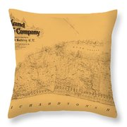 Map Of Sausalito 1868 Throw Pillow