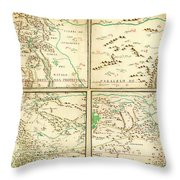 Map Of Spanish Holdings In North America 1769 Throw Pillow
