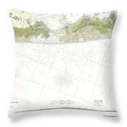 Map Of Suffolk County Southern Long Island New York Throw Pillow