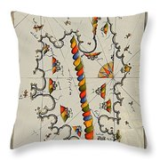 Map Of The Island Corsica Throw Pillow
