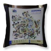Map Of The Jurong Bird Park Along With A Tourist Throw Pillow