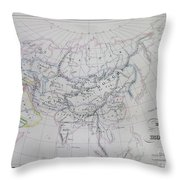 Map Of The Mongol Empire In Asia And Europe Throw Pillow