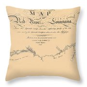 Map Of The Red River 1806 Throw Pillow