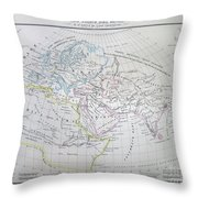 Map Of The World According To The Ancients Throw Pillow