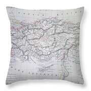 Map Of Turkey Or Asia Minor In Ancient Times Throw Pillow